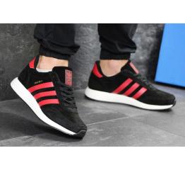 Купить Мужские кроссовки Adidas Iniki черные с красным в Украине