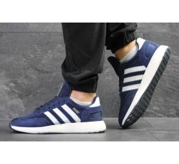 Купить Мужские кроссовки Adidas Iniki синие с белым