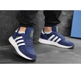 Купить Чоловічі кросівки Adidas Iniki сині з білим в Украине