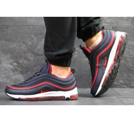 Купить Мужские кроссовки Nike Air Max 97 синие с красным