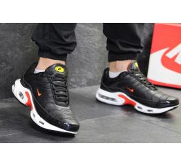 Купить Мужские кроссовки Nike TN Air Max Plus черные с красным и белым в Украине