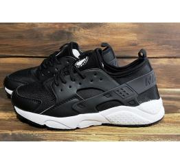 Купить Мужские кроссовки Nike Air Huarache черные с белым