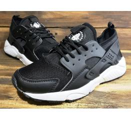 Купить Мужские кроссовки Nike Air Huarache черные с белым в Украине