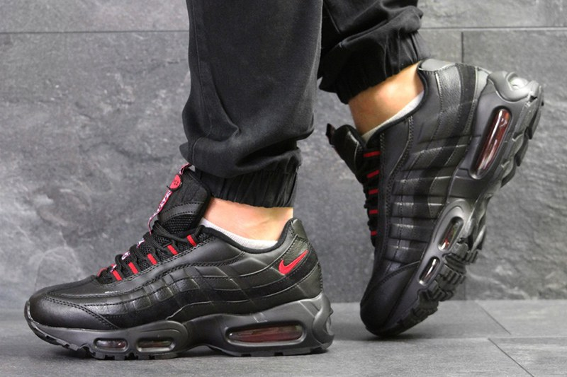 117514a8 Nike (Найк) кроссовки Air Max 95 OG черные с красным купить   ASPOLO