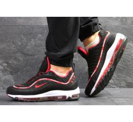Купить Мужские кроссовки Nike Air Max 98 х Off-White черные с красным