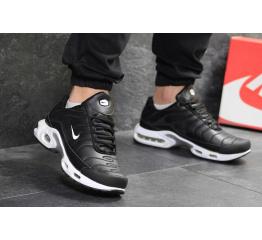 Купить Чоловічі кросівки Nike TN Air Max Plus чорні з білим в Украине