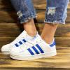 Женские кроссовки Adidas Superstar белые с синим