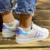 Женские кроссовки Adidas Superstar Iridescent белые