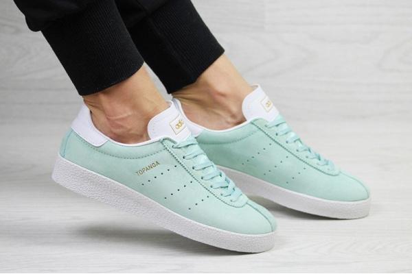Женские кроссовки Adidas Topanga бирюзовые
