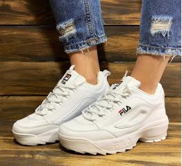 Купить Жіночі кросівки Fila Disruptor 2 білі
