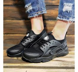 Купить Женские кроссовки Nike Air Huarache черные в Украине