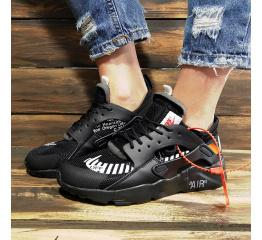 Купить Женские кроссовки Nike Air Huarache x Off White черные в Украине