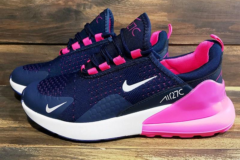 8b55abc2 Nike (Найк) кроссовки Air Max 270 темно-синие с розовым купить   ASPOLO