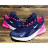 Женские кроссовки Nike Air Max 270 темно-синие с розовым