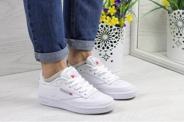 Женские кроссовки Reebok C85 белые