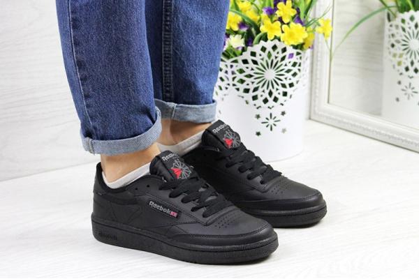 Женские кроссовки Reebok C85 черные