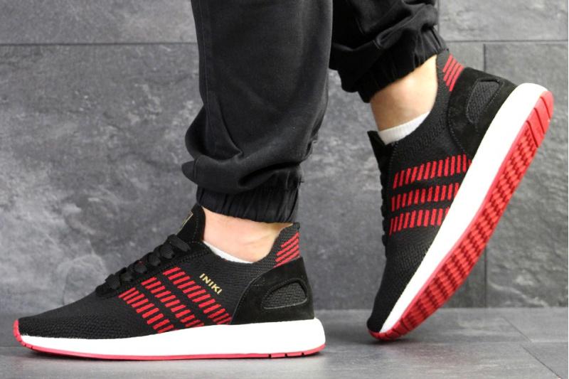 historia explorar Cinemática  Купить мужские кроссовки Adidas Iniki Runner Boost Primeknit черные с  красным в Украине | ASPOLO.ua