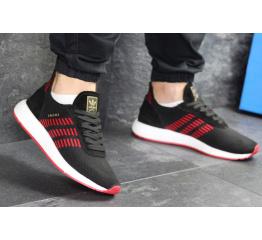 Купить Чоловічі кросівки Adidas Iniki Runner Boost Primeknit чорні з червоним в Украине