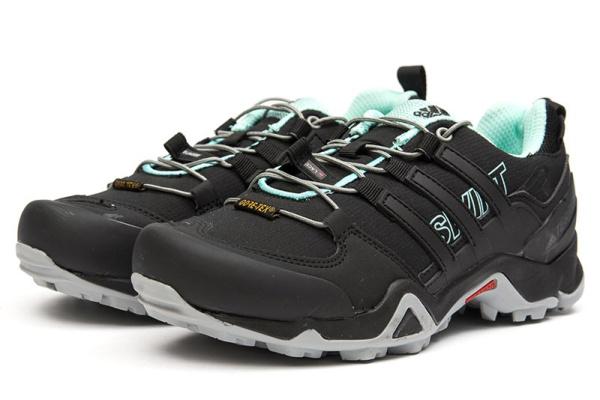 Женские кроссовки Adidas Terrex Swift R GTX черные с бирюзовым