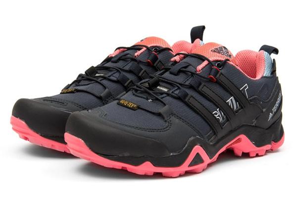 Женские кроссовки Adidas Terrex Swift R GTX темно-синие с коралловым