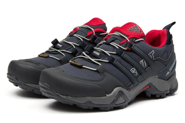 Женские кроссовки Adidas Terrex Swift R GTX темно-синие с красным