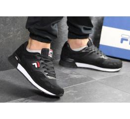 Купить Мужские кроссовки Fila черные с белым в Украине