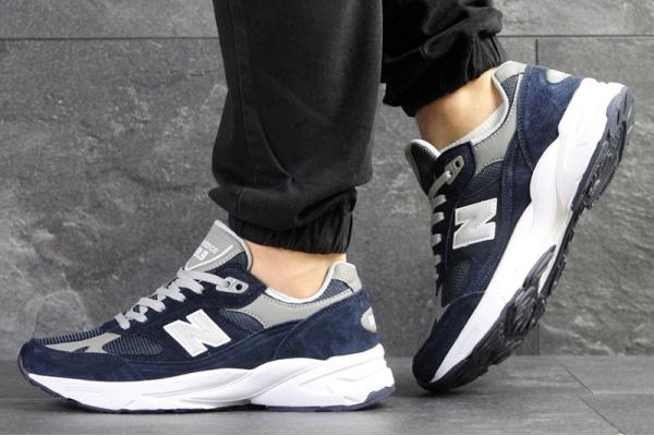 Мужские кроссовки New Balance 991.9 темно-синие с белым