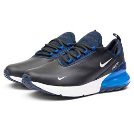Купить Мужские кроссовки Nike Air Max 270 темно-синие с голубым