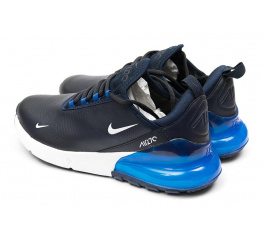 Купить Мужские кроссовки Nike Air Max 270 темно-синие с голубым в Украине