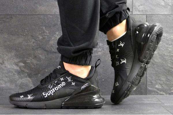Мужские кроссовки Nike Air Max 270 x Supreme черные