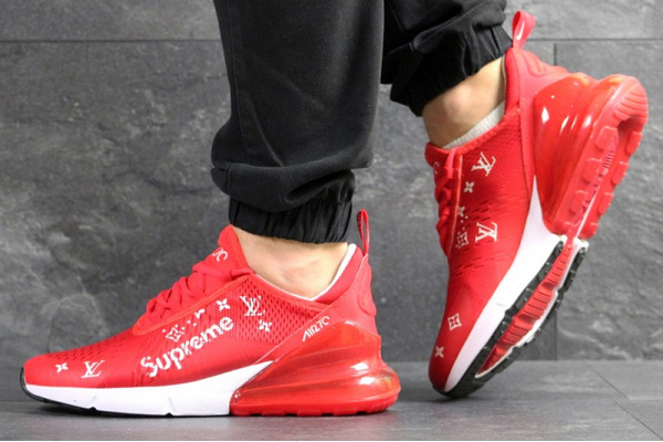 Мужские кроссовки Nike Air Max 270 x Supreme красные