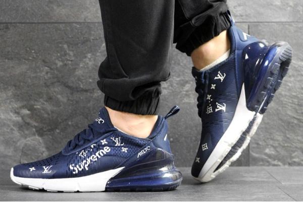Мужские кроссовки Nike Air Max 270 x Supreme синие