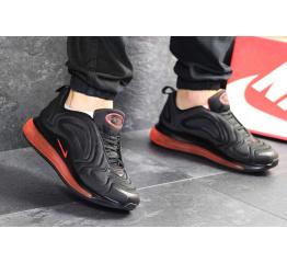 Купить Чоловічі кросівки Nike Air Max 720 чорні з помаранчевим в Украине