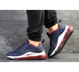 Купить Мужские кроссовки Nike Air Max 720 темно-синие с белым и красным