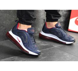 Купить Чоловічі кросівки Nike Air Max 720 темно-сині з білим и красным в Украине