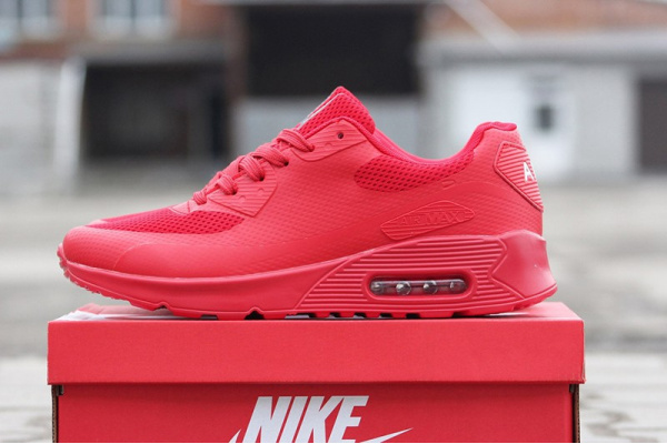Мужские кроссовки Nike Air Max 90 Hyperfuse красные