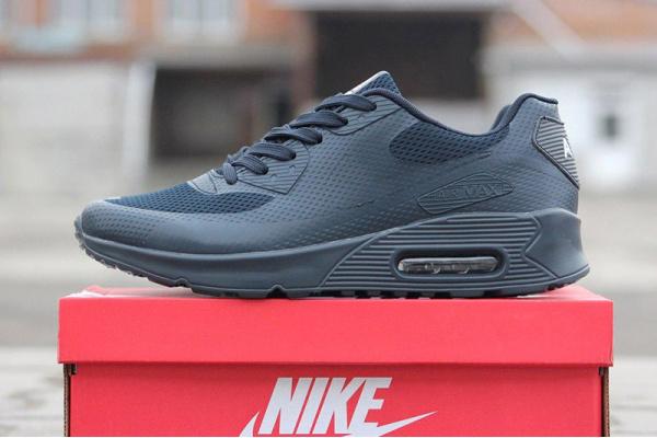 Мужские кроссовки Nike Air Max 90 Hyperfuse темно-синие