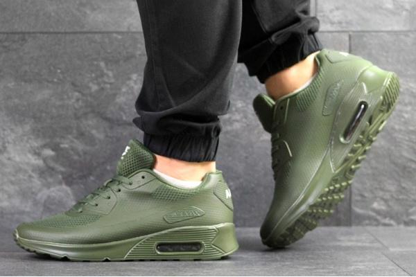 Мужские кроссовки Nike Air Max 90 Hyperfuse зеленые