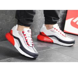 Купить Мужские кроссовки Nike Air Max 95 + Max 270 белые с красным в Украине