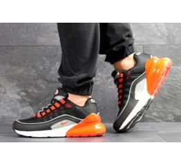 Купить Мужские кроссовки Nike Air Max 95 + Max 270 черные с оранжевым