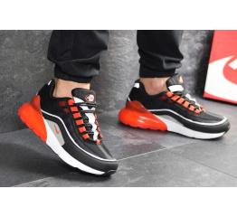Купить Мужские кроссовки Nike Air Max 95 + Max 270 черные с оранжевым в Украине
