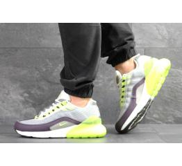 Купить Мужские кроссовки Nike Air Max 95 + Max 270 серые с неоновым