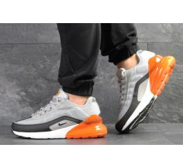 Купить Мужские кроссовки Nike Air Max 95 + Max 270 серые с оранжевым
