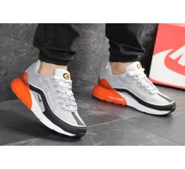 Купить Мужские кроссовки Nike Air Max 95 + Max 270 серые с оранжевым в Украине