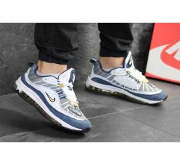 Купить Мужские кроссовки Nike Air Max 98 серые с белым и синим в Украине