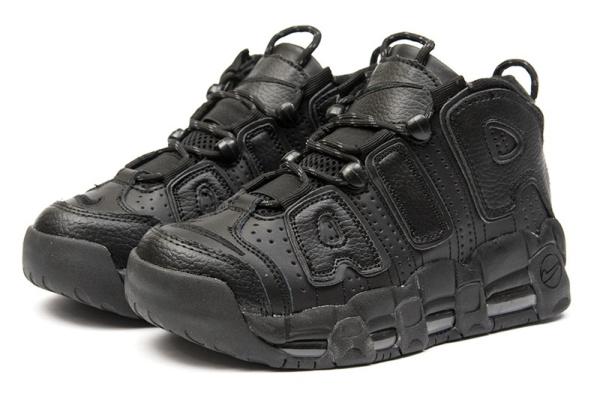 Женские высокие кроссовки Nike Air More Uptempo '96 Premium черные