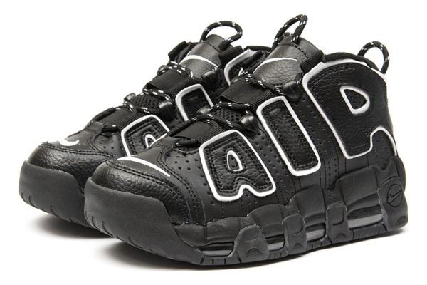 Женские высокие кроссовки Nike Air More Uptempo '96 Premium черные с белым