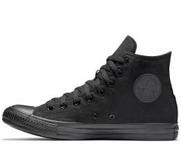 Купить Жіночі кеди Converse Chuck Taylor All Star High Mono Black чорні