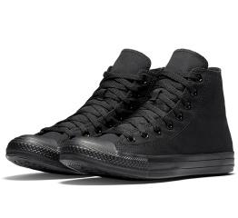 Купить Жіночі кеди Converse Chuck Taylor All Star High Mono Black чорні в Украине