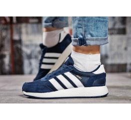 Купить Женские кроссовки Adidas Iniki синие с белым